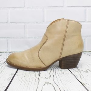 Born Ankle Boots Booties Tan Beige Leather Size 9